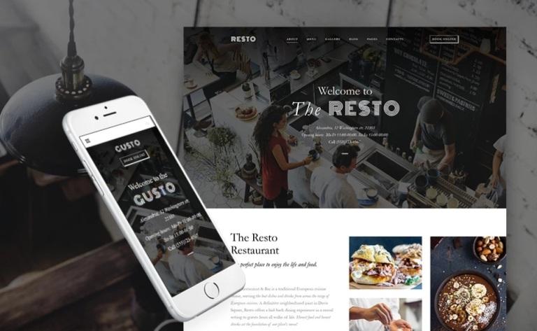 "WordPress shablon ""dlja sajta restorana"""