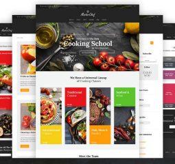 Adaptivnyj WordPress shablon №59011 na temu kulinarnaja shkola