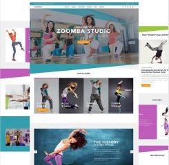 Adaptivnyj WordPress shablon №61364 na temu tanceval'naja studija