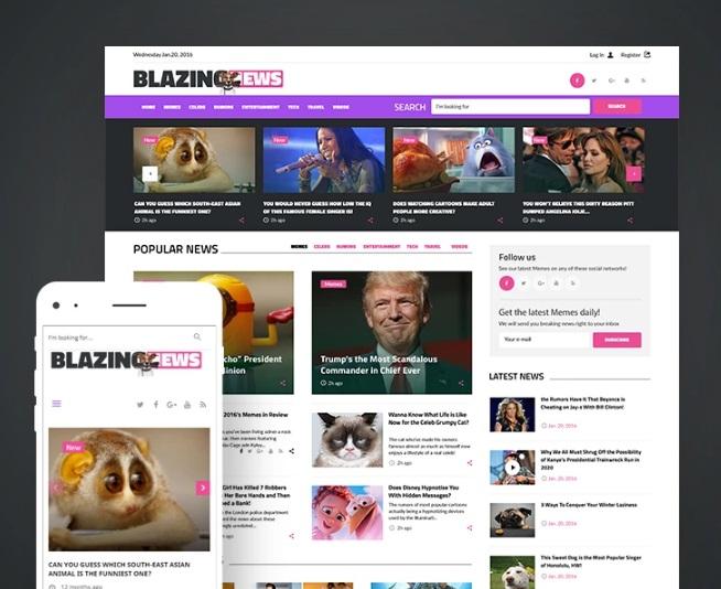 TOP 3 - premium tema WordPress shablon BlazingNews - novostnoj portal