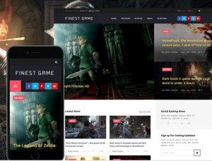 TOP 7 - WordPress shablon Finest - igrovoj sajt ili blog