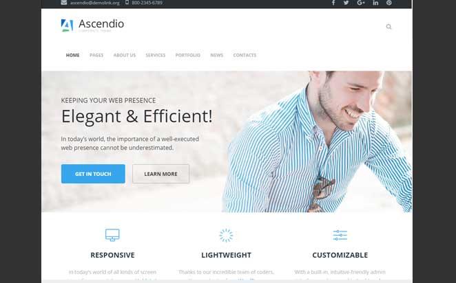 WordPress-shablon-Ascendio-dlja-biznes-sajta