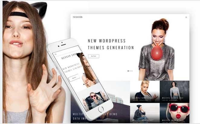 WordPress-shablon-Glossy-Look---modnyj-blog