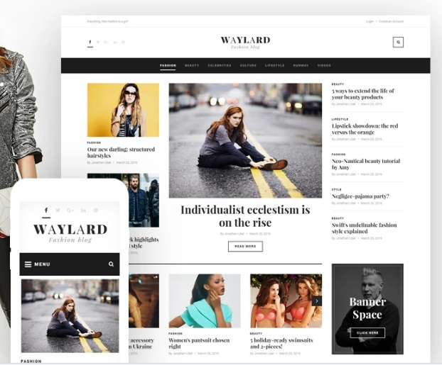top 8 WordPress shablon Waylard - Fashion Blog & Magazine
