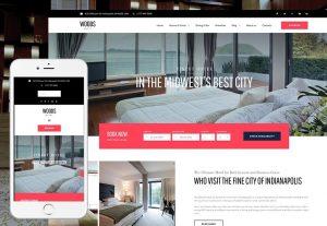 WordPress shablon Woods Hotel dlja sajta otelja