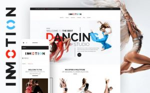 daptivnyj WordPress shablon na temu tanceval'naja studija