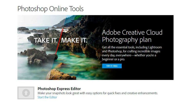 редактируем картинки в фотошопе онлайн