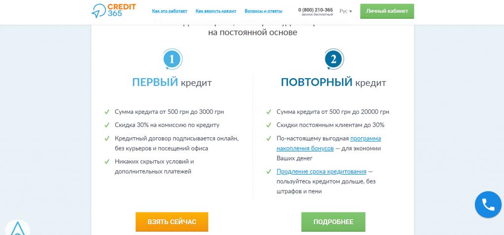 credit365-описание сервиса