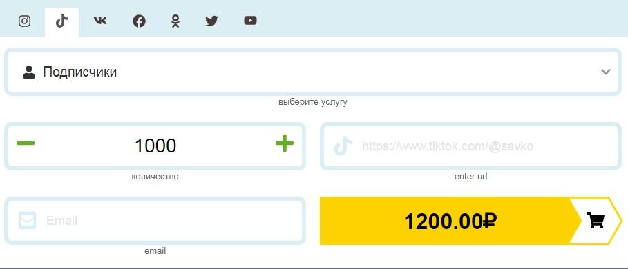 1000 подписчиков на tik tok